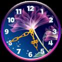 Fleurs au Néon Horloge