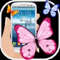 Butterflies Flying On Screen