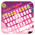 Sweet Rocket Emoji Keyboard