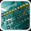 Geometry Emoji Keyboard Theme