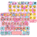 Pink Pop Emoji Keyboard Wallpaper