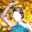 ウエディングドレスのフォトモンタージュ