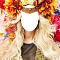 女性の髪の花エディタ