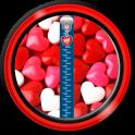 Zipper Lock Screen – Love