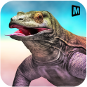 Angry Komodo Dragon