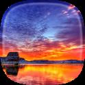 Sonnenuntergang 3D Hintergrund