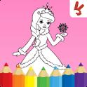 Niños pintura juego: Princesas