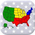 50 US States Map, Capitals & Flags - American Quiz