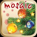 Christmas tree children mosaic