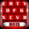 लाल कीबोर्ड विषय
