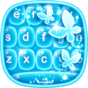 नीयन नीले कीबोर्ड