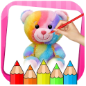 Little Teddy Bear Colouring Book Game