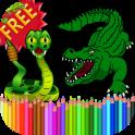 Coloring Book Reptiles