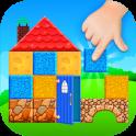 Kinderspiel Haus bauen