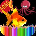 색칠하기 책 바다 동물