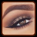 茶色の目のためのアイメイク