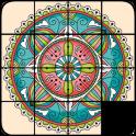 Schiebe-Puzzle-Mandalas