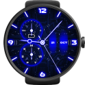 Neon Blue Watch Face