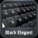 GO Keyboard Negro Elegante
