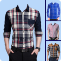 Men Check Shirt Photo Suit - Man Casual Shirt