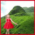 colinas verdes moldura