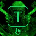 Green Skull Gun Keyboard Theme