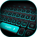 Blue Light Black Keyboard
