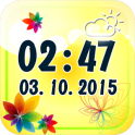 Flower Digital Weather Clock