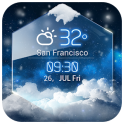 average temp &3D clock widget
