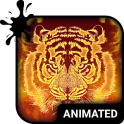 Fire Tiger Animated Keyboard + Live Wallpaper