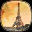 Herbst in Paris Hintergrund
