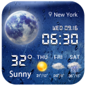 Aero weather clock widget