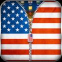 US Flag Zipper Lock Screen