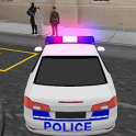 fou police voiture driver 3D