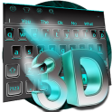 3D Blue Keyboard Theme
