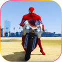 Superhero Tricky bike race (kids games)
