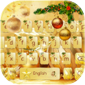 Gold Christmas Keyboard Theme