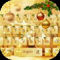 Navidad Dorada teclado Tema