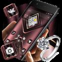 Carmine Velvet Glitter Diamond Theme