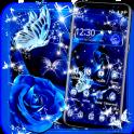 Blue Rose Raindrops Theme