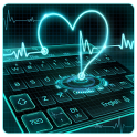 Neon Heart Keyboard Theme