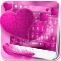Plush Pink Heart Keyboard