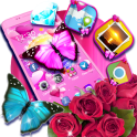 Pink Butterfly Rose Theme