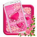 Gleaming Pink Hearts Theme