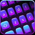 Simple Purple Light Keyboard
