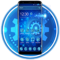 Neon Blue Metal Technology Theme