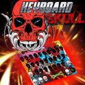 skull keyboard graffiti theme