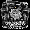 Hip Hop Graffiti Skull Theme