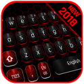 Classic Black Red Keyboard