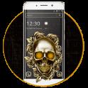 Golden Skull Black Theme